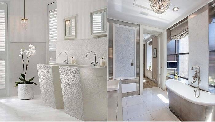 Чистота и легкость: классический декор ванной комнаты в белых тонах